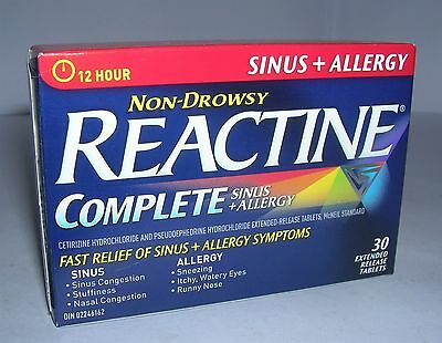 REACTINE Complete Sinus and Allergy 12 Hour Non Drowsy 390 Tablets (13 Packs)