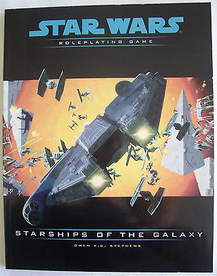 STAR WARS Role Playing Game RPG STARSHIPS OF THE GALAXY - VGC Uncirculated