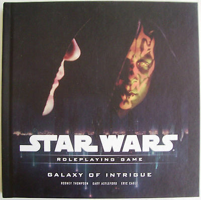 STAR WARS Role Playing Game RPG GALAXY OF INTRIGUE Book - New