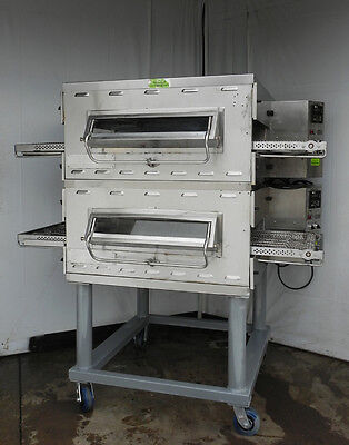 Middleby Marshall pizza oven gas PS536G conveyor clean