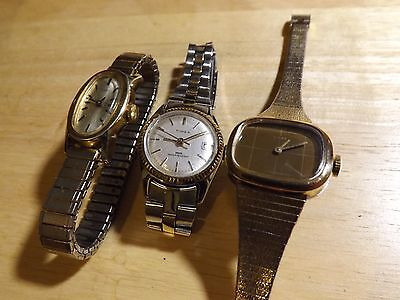 3 working Vintage Timex hand winding watches