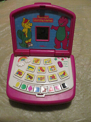 Barney the purple Dinosaur Learning Laptop Electronic Computer Toy Educational