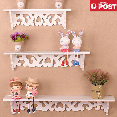 WPC 3PCS Wall Floating Shelf Shabby Chic Bookshelf for Home Office Shop Display