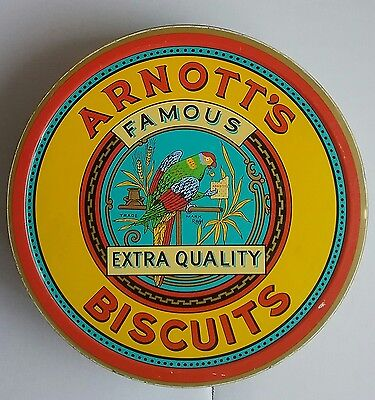Vintage Arnott's Famous Biscuits Tin Federation Rosella