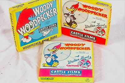 Woody Woodpecker silent  8mm movies vintage black & white