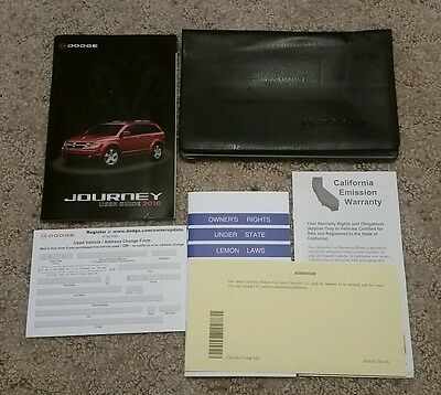 2010 Dodge Journey User Guide Manual with case OEM