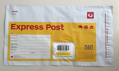 20 x Australia Post Express Post Satchel 500g - Ask for FREE Postage