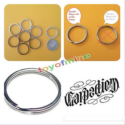 Bulk Metal Key Holder Split Rings Keyring Keychain Keyfob Accessories 25mm