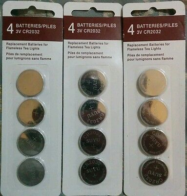 CR2032-3V Lithium, Lot of 28-4pks=112 batteries4 tealights, electronics, watches