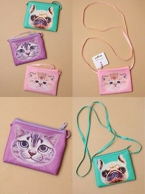 Pack Of 6 Cat & Dog Design Purse / Handbag, Long Strap : Sp-6528 Pk6