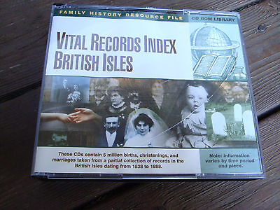 Vital Records Index British Isles *CD-ROM* Genealogy Software Family History
