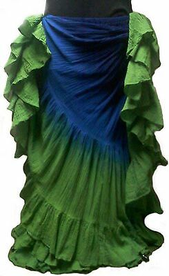 """Plus size 25 yard cotton belly dance skirt - 40"""" inches Height"""