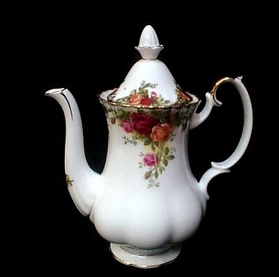 "ROYAL ALBERT  ""Old Country Roses""  Coffee Pot   Excellent Condition"