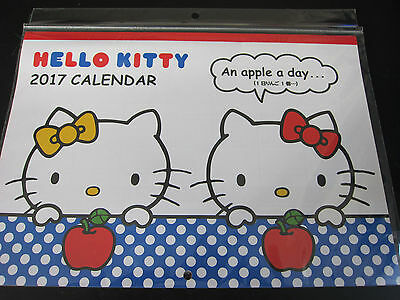2017 HELLO KITTY Calendar ~ Month to Month Nice Hanging Wall Style ~