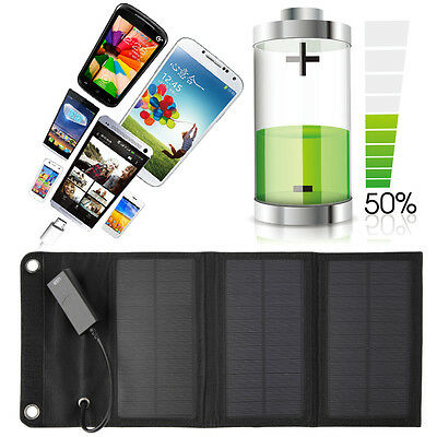 6W Folding Solar Panel USB Travel Camping Portable Battery Charger For Phone AK