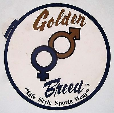 Vintage Golden Breed Promo Sticker/Decal. Rare Collectable
