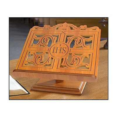 IHS Wood Carved Bible Stand - TS864WAL
