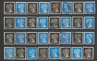 British stamps machin stamps mixed machin collection of double heads gb SG1467/9