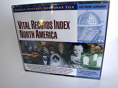 Vital Records Index NORTH AMERICA 6 *CD-ROM* Genealogy Software 1631-1888