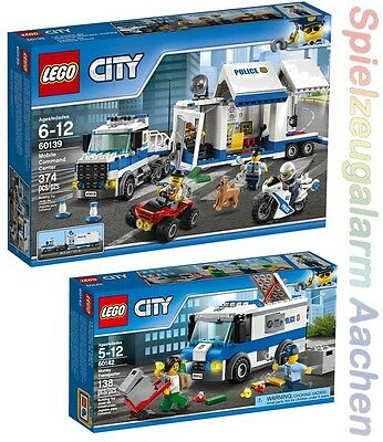 LEGO City Polizei Set 60139 60142 Mobile Einsatzzentrale Geldtransporter N1/17