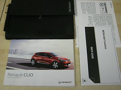 Renault Clio Owners Manual Handbook 2015-2017 Inc Service Section Blank