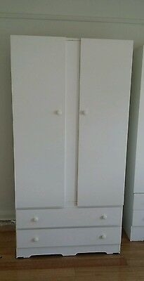 White Cupboard with Two Drawers