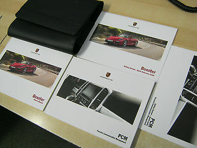 Porsche Boxster Owners Manual Handbook Pack 2014-2016 Inc Pcm Sat Nav