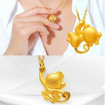 Zodiacs Necklace Chain Collar Jewelry Gold Plated Monkey Pendant Chinese Style