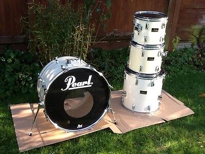 Pearl Export vintage shell pack drum kit white vgc
