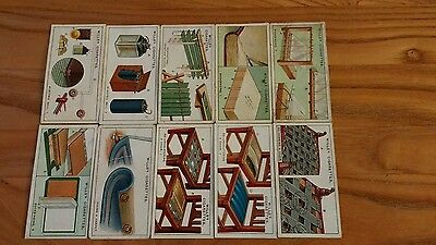 full set of wills 1927 household hints cigarette cards
