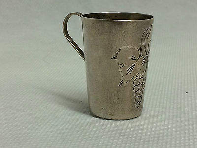 Russian solid sterling silver 875 vodka cup.Russia cup 24,3 gr