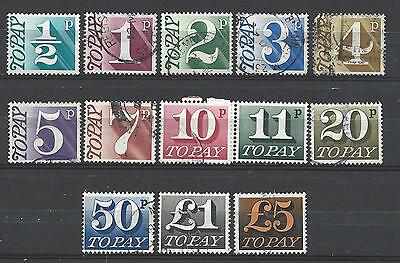 British stamps collection postage due stamps from the 1970's full set GB