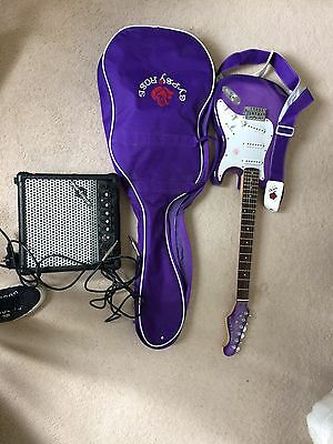Gypsy Rose guitar with amp