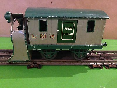 Hornby O gauge two tone green snow plough