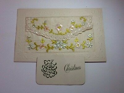 Ww1 Silk Embroidered Postcard With Insert