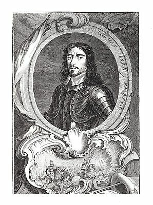 Thomas, Lord Fairfax of Cameron - Parliamentary Soldier - After Jacob Houbraken