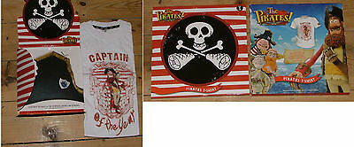 Wallace & Gromit Aardman Pirates T-Shirt Small childrens tradeshow giveaway, new