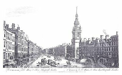 The Church of St Mary le Bow, Cheapside, London (c1757) by the Guildhall Library
