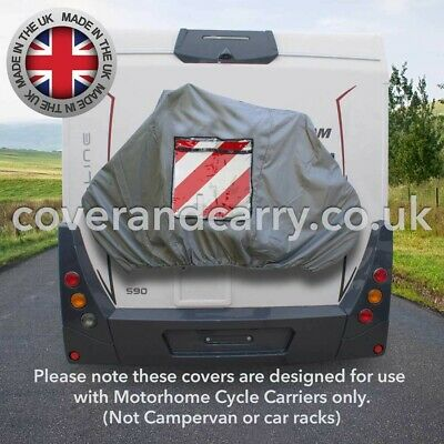Motorhome Bike Rack Cover 2-3 Cycles Deluxe Quality With Sign Pocket