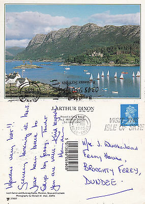 1995 Loch Carron & Duncraig Castle Ross Shire Scotland Colour Postcard