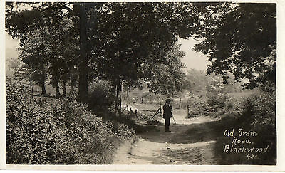 POSTCARD OLD TRAM ROAD  BLACKWOOD MONMOUTHSHIRE - no 423