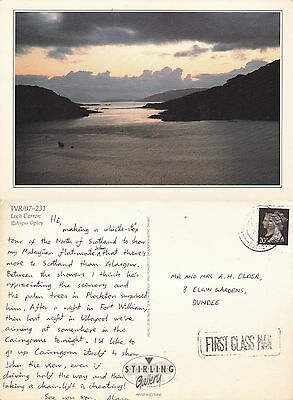 1990's LOCH CARRON ROSS SHIRE SCOTLAND OVERSIZED COLOUR POSTCARD