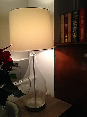 Large Modern Table Lamp With Glass Base