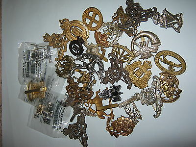 Large Lot/collection Of British Army Cap Badges