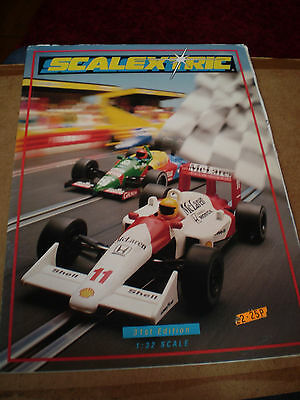 SCALEXTRIC SLOT CAR TOY CATALOGUE 1990 31st EDITION+P/LIS NEAR EXCELLENT FOR AGE
