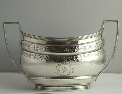 Fine George III Solid Silver Sugar Bowl - 237g - London 1802