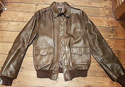 willis and geiger a2 vintage old flying jacket leather