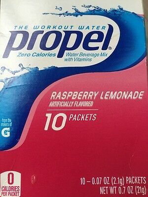 12 Boxes Propel Raspberry Lemonade Water Drink Mix (120 Packets Total)