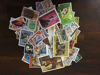 100 Mixed World Stamps