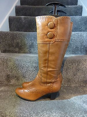 Ladies canda leather tan winter boots size 36G